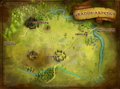 Carte des Grands-arpents